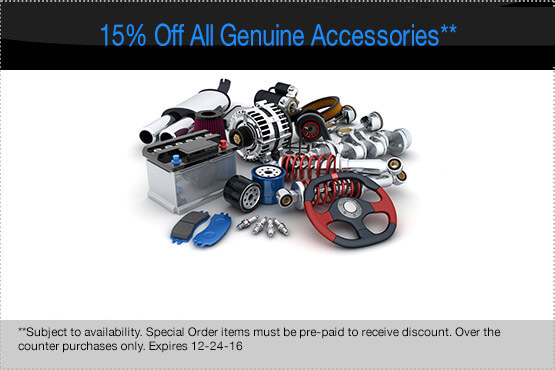 15% Off All Genuine Accessories