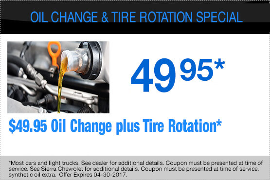 Oil Change and Rotation