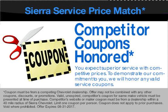 Sierra Service Price Match