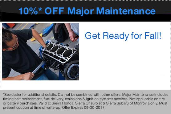 10%* Off Major Maintenance