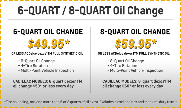 6 and 8 Quart Oil Change