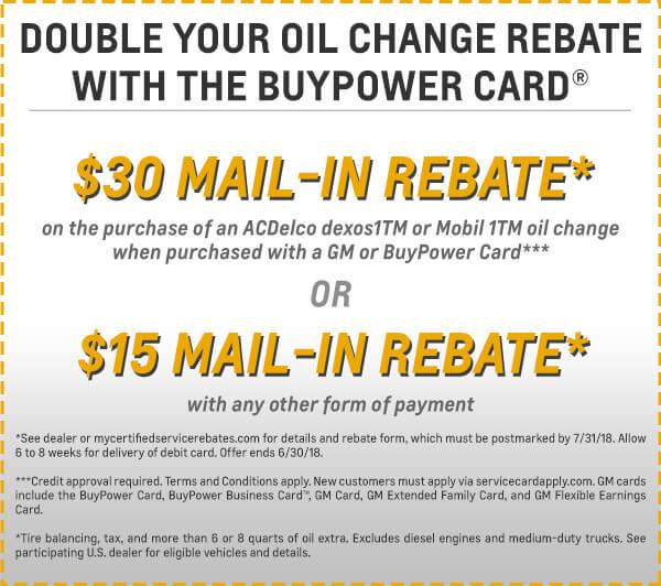 Double Oil Change