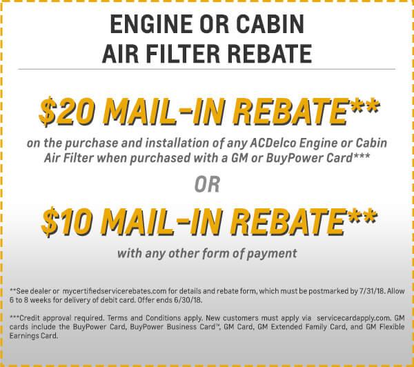 Filter Rebate