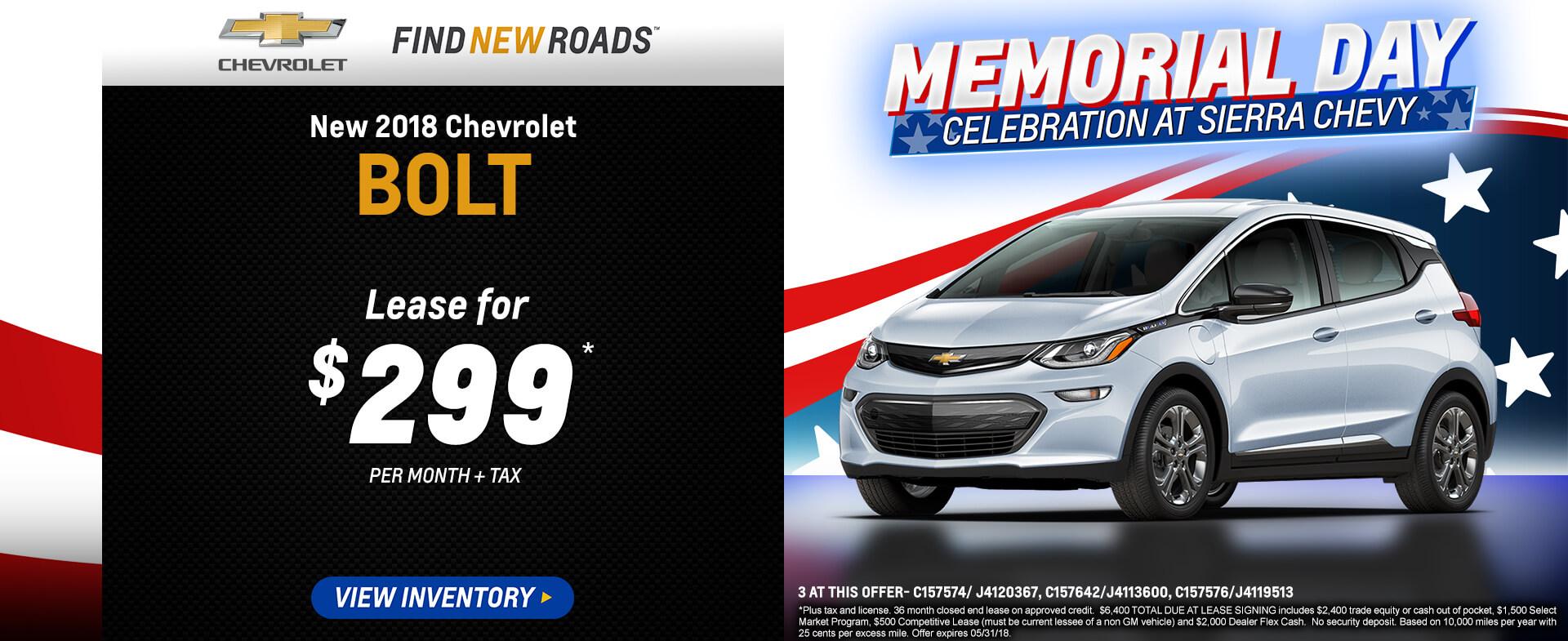 Bolt EV LT Lease $299