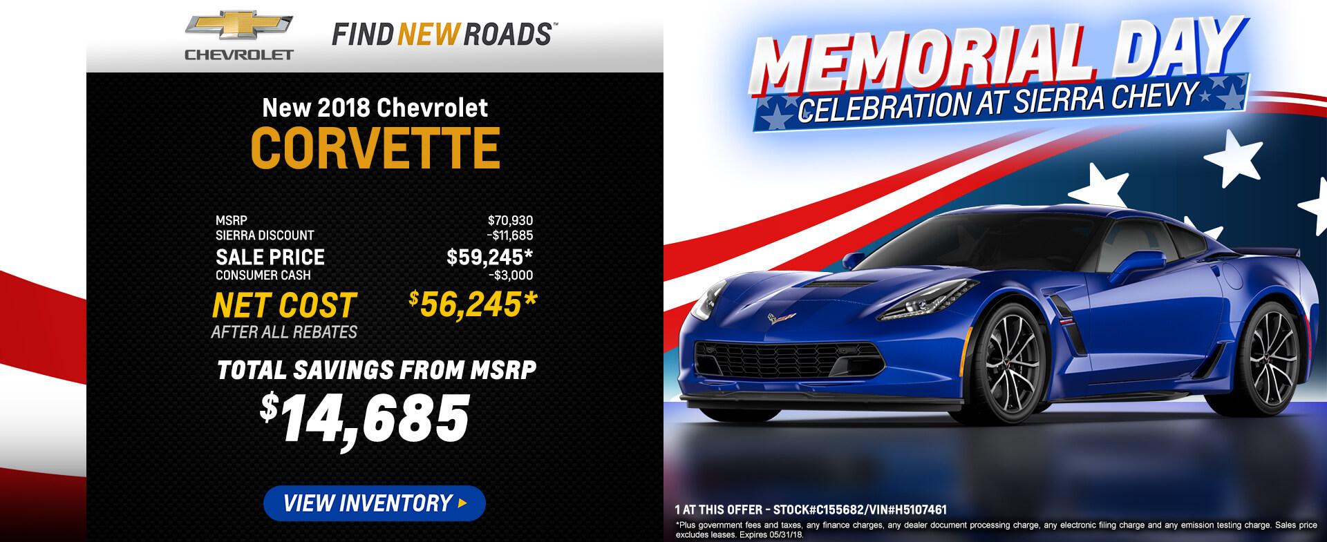 Corvette $56,245