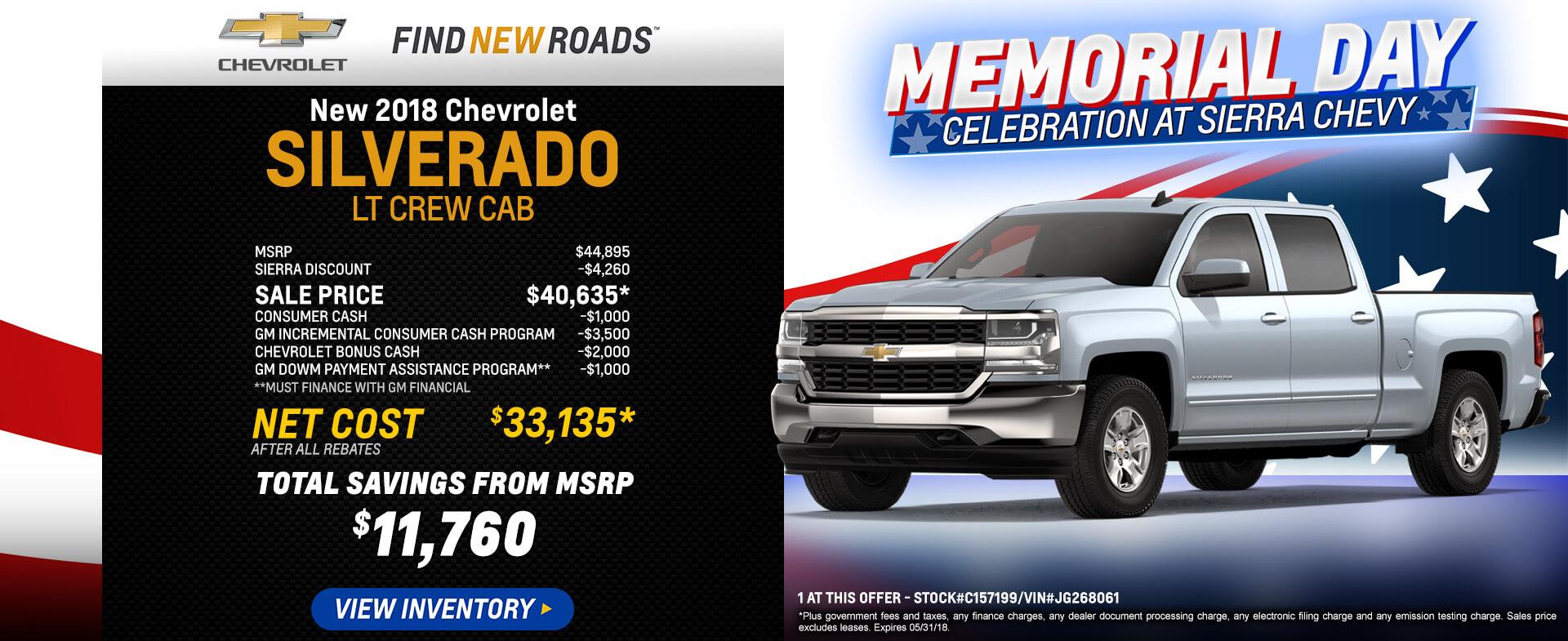 Silverado LT Crew Cab $33,135