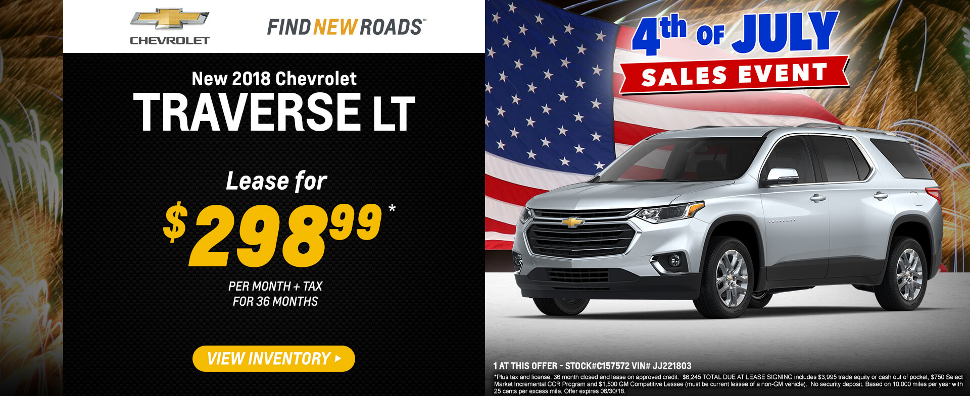 Traverse Lease $298.99