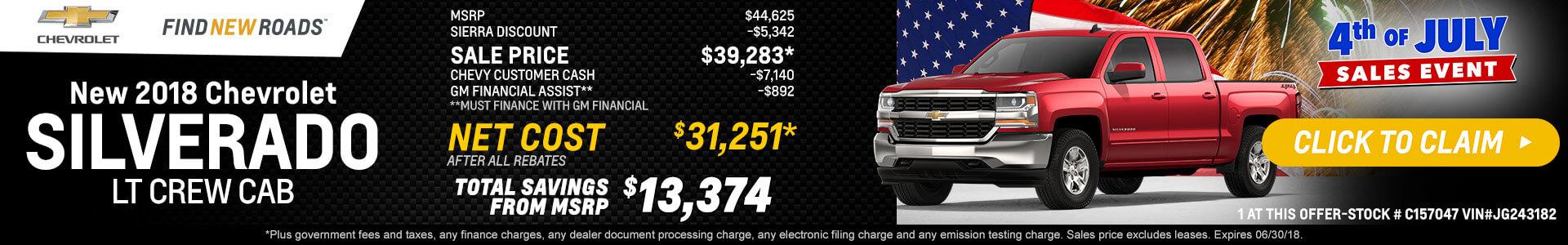 Silverado LTZ Crew Cab $31,251