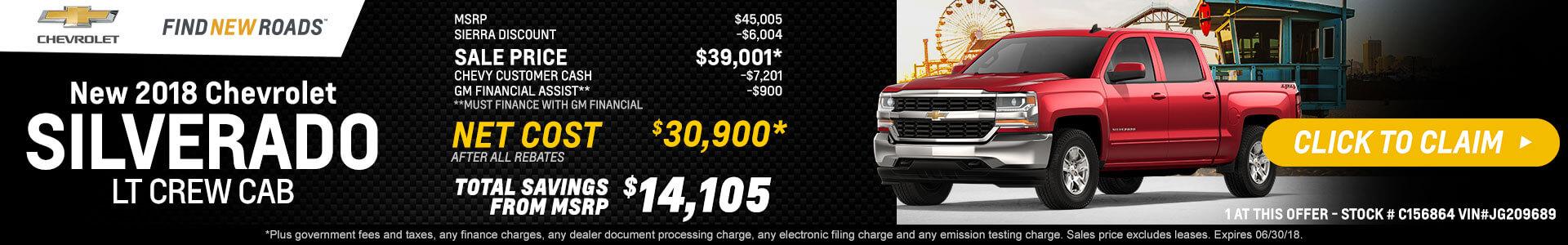 Silverado LTZ Crew Cab $32,635