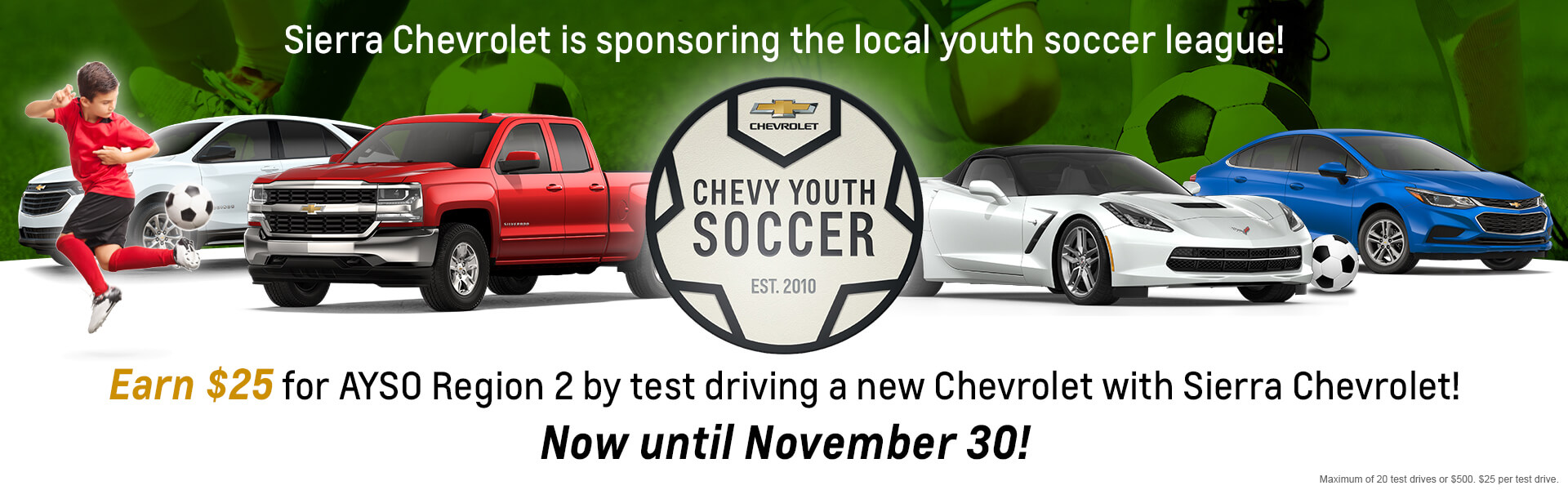 Chevy Youth Soccer Banner