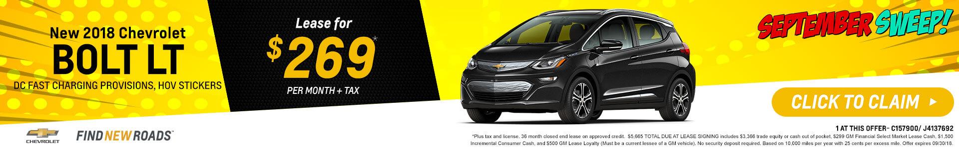 Bolt EV LT Lease $319
