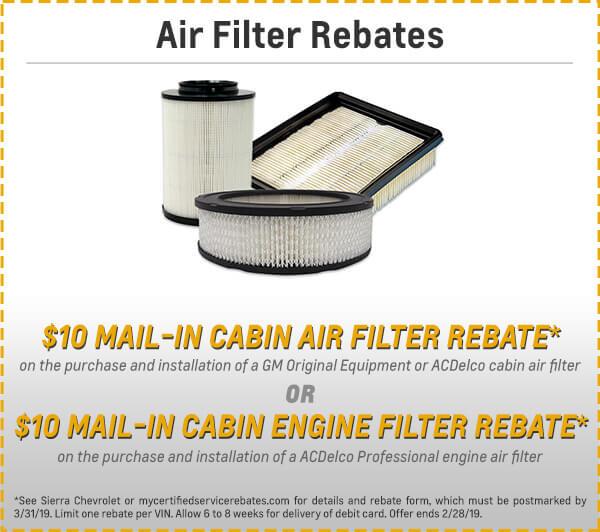 Air Filter Rebate