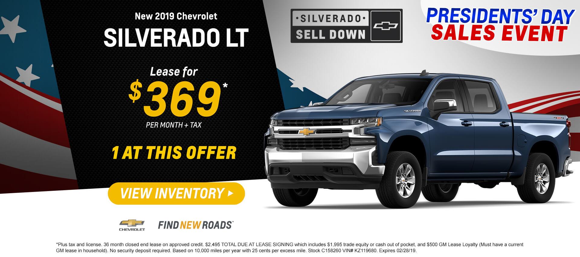 2019 Silverado Lease