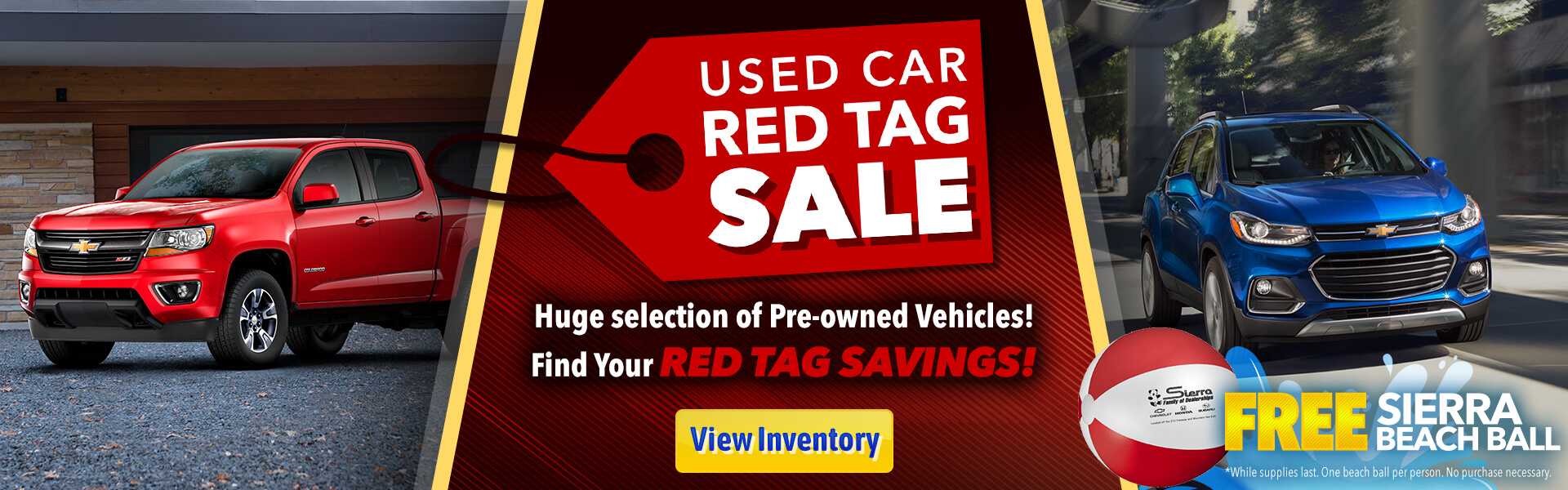 Used Car Red Tag