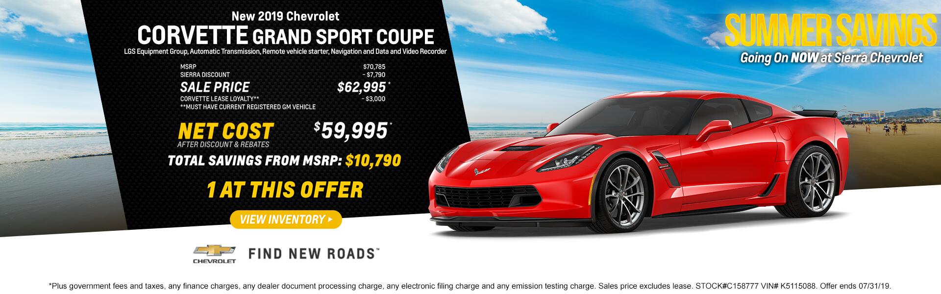 Corvette Purchase