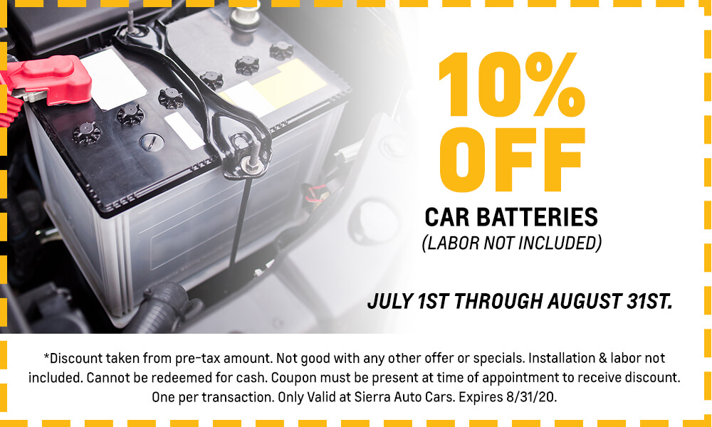 10% Off Car Batteries