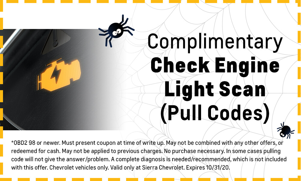 Complimentary Check Engine Light Scan (Pull Codes)