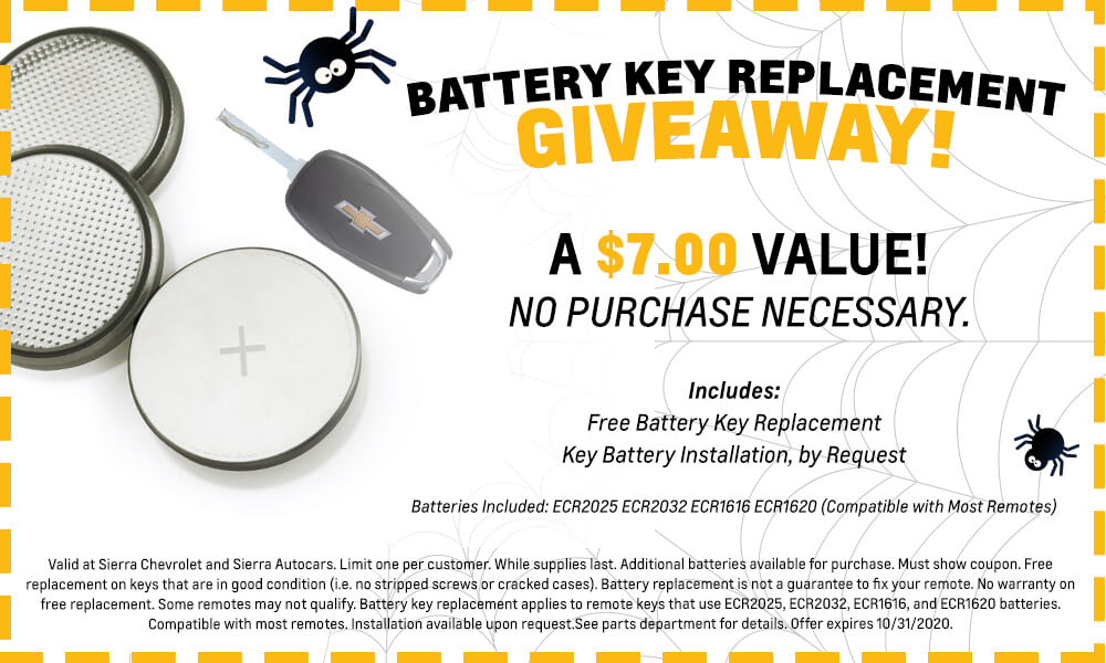 Battery Key Replacement Giveaway