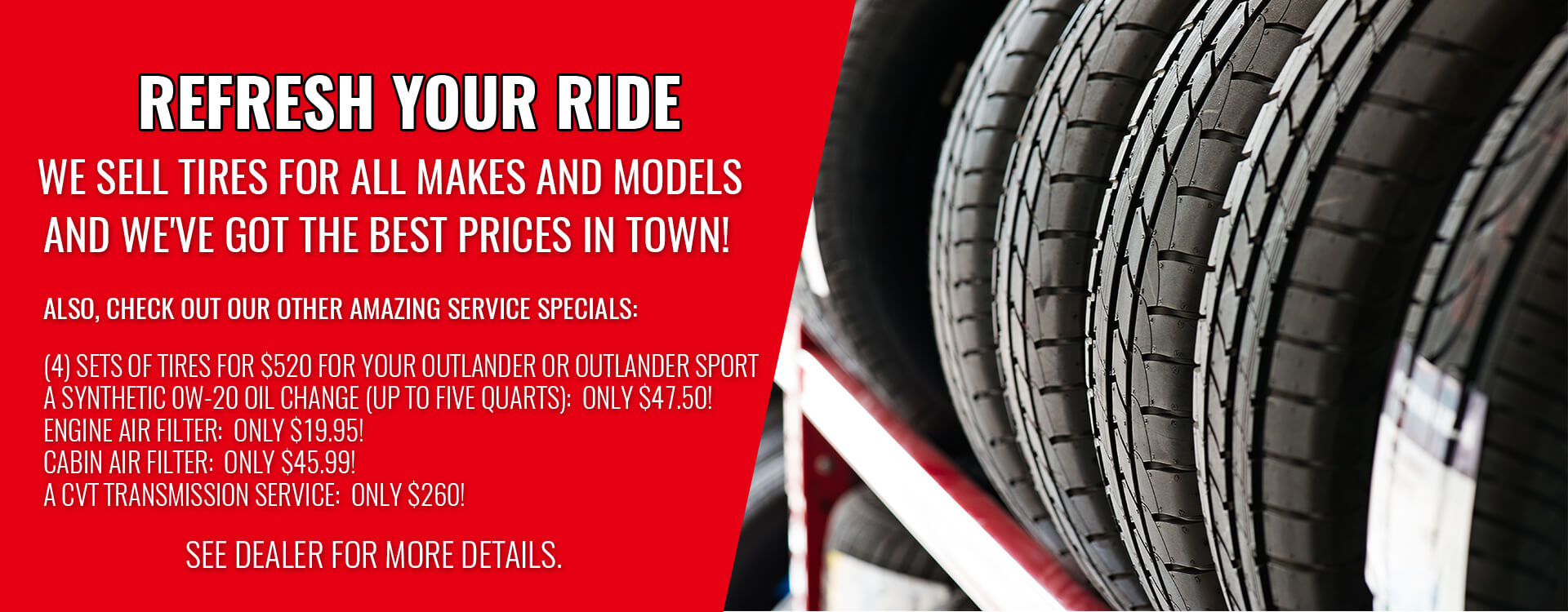 Tires and Service Specials