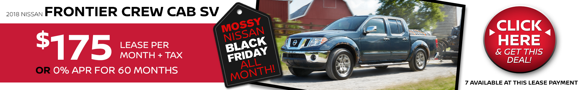 Mossy Nissan - Nissan Frontier $175 Lease