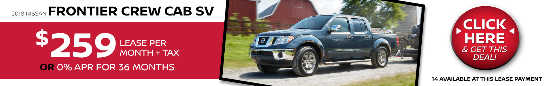 Mossy Nissan - Frontier $259 Lease