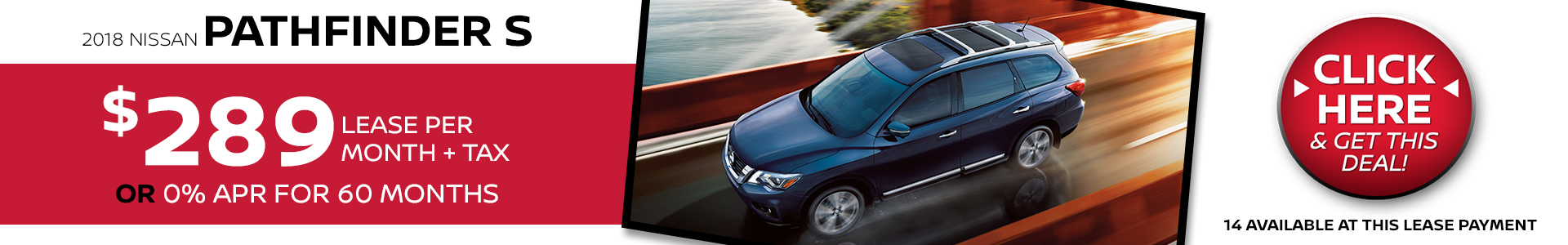 Mossy Nissan - Pathfinder $289 Lease