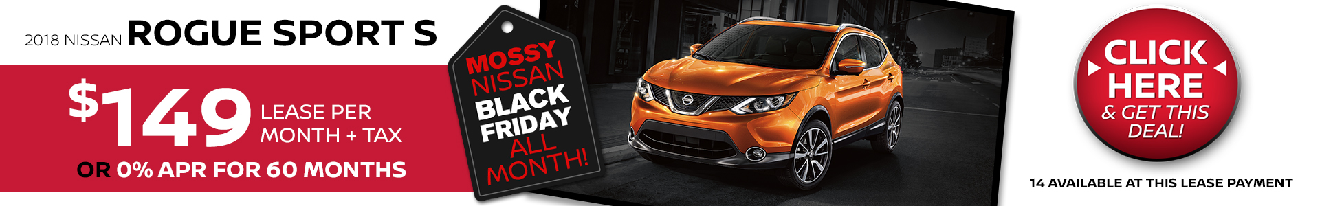 Mossy Nissan - Rogue Sport $149 Lease
