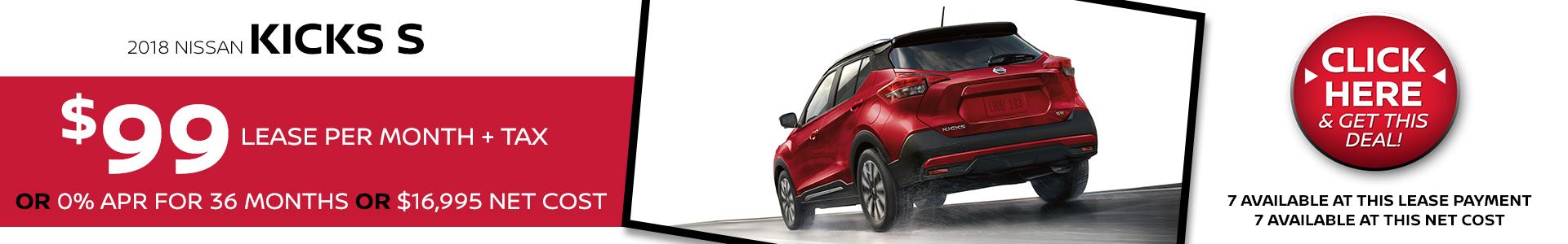 Mossy Nissan - Nissan Kicks $99 Lease