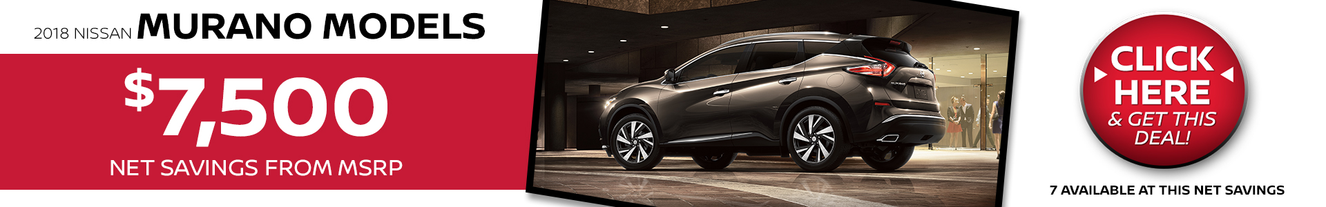 Mossy Nissan - Nissan Murano $7,500 Off MSRP