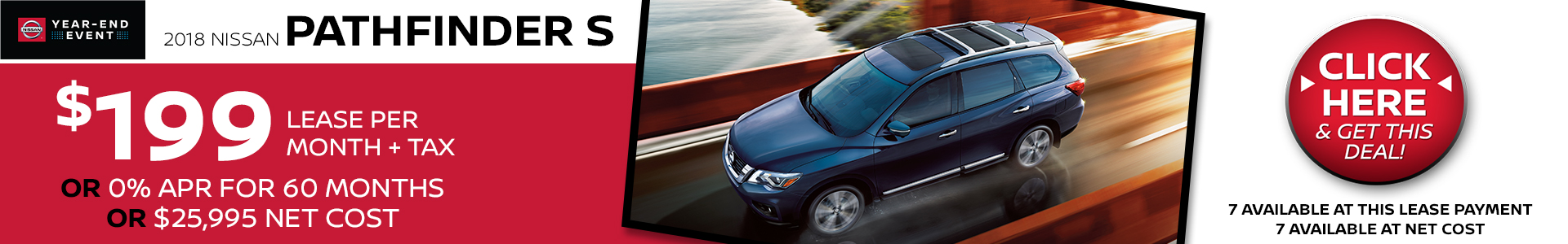 Mossy Nissan - Nissan Pathfinder $199 Lease