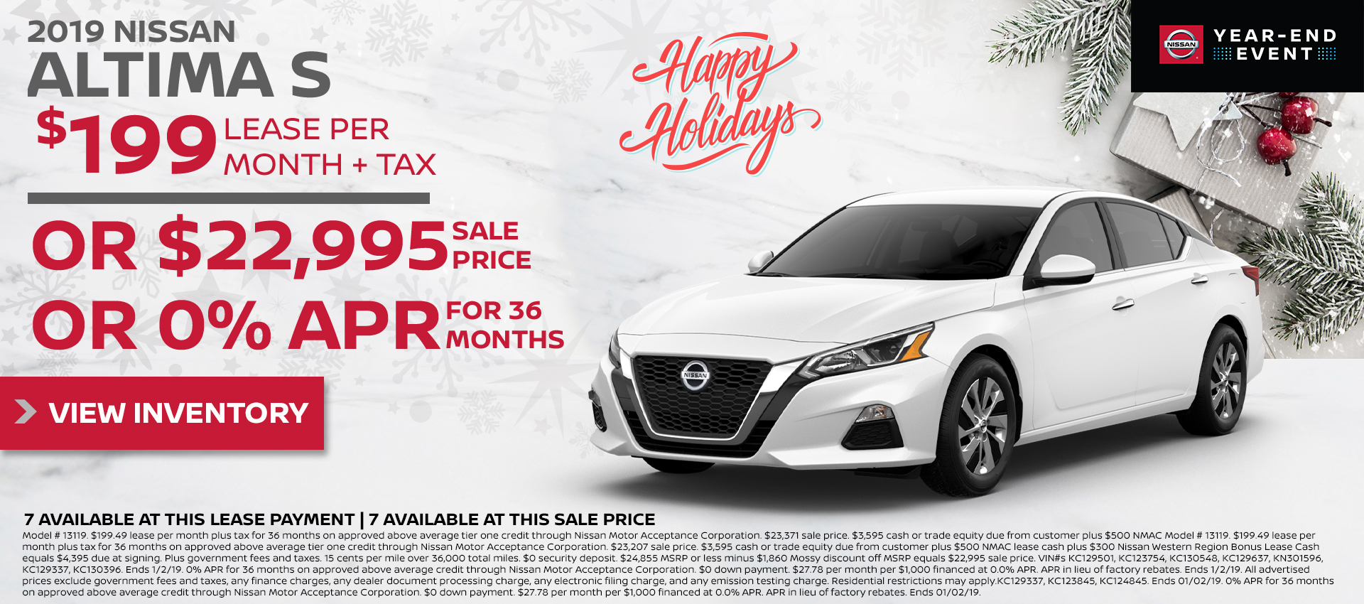Mossy Nissan - Nissan Altima $199 Lease HP