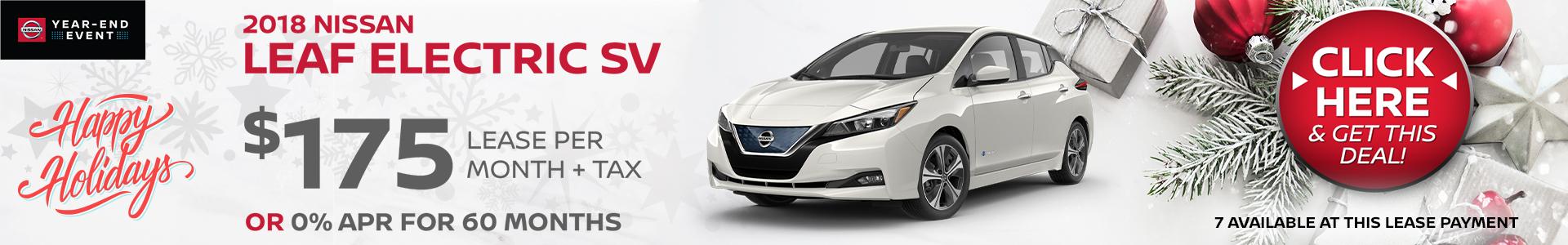 Mossy Nissan - Nissan LEAF $175 Lease