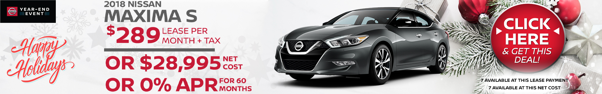 Mossy Nissan - Nissan Maxima $7,500 Off MSRP