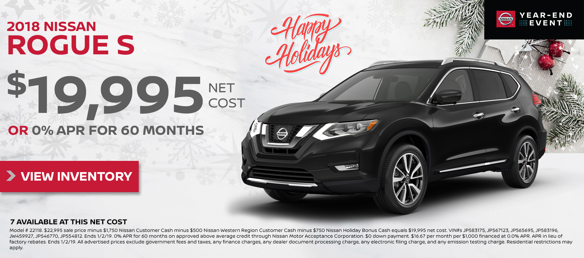 Mossy Nissan - Rogue $19,995 Purchase HP