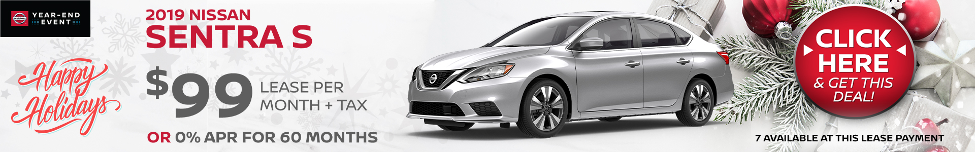 Mossy Nissan - Nissan Sentra $99 Lease