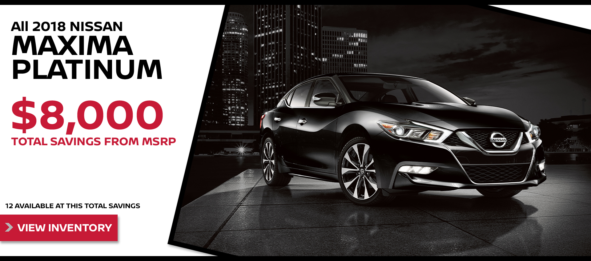 Mossy Nissan - Nissan Maxima $8,000 Off MSRP HP