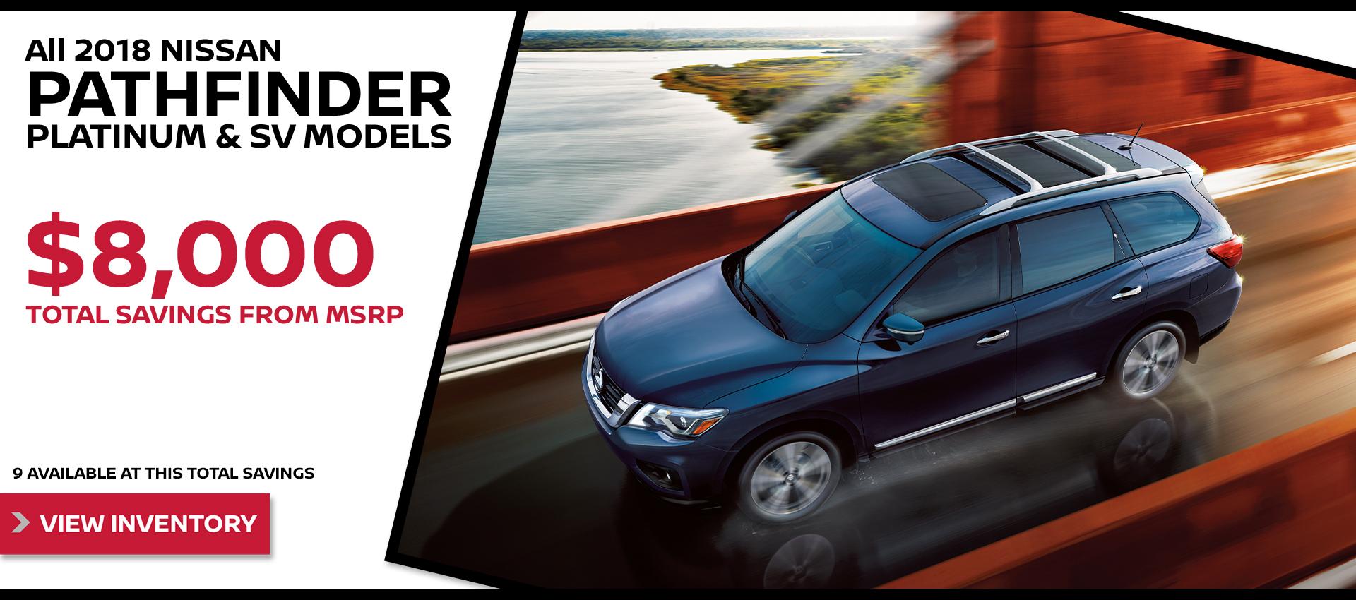 Mossy Nissan - Nissan Pathfinder $8,000 Off MSRP HP