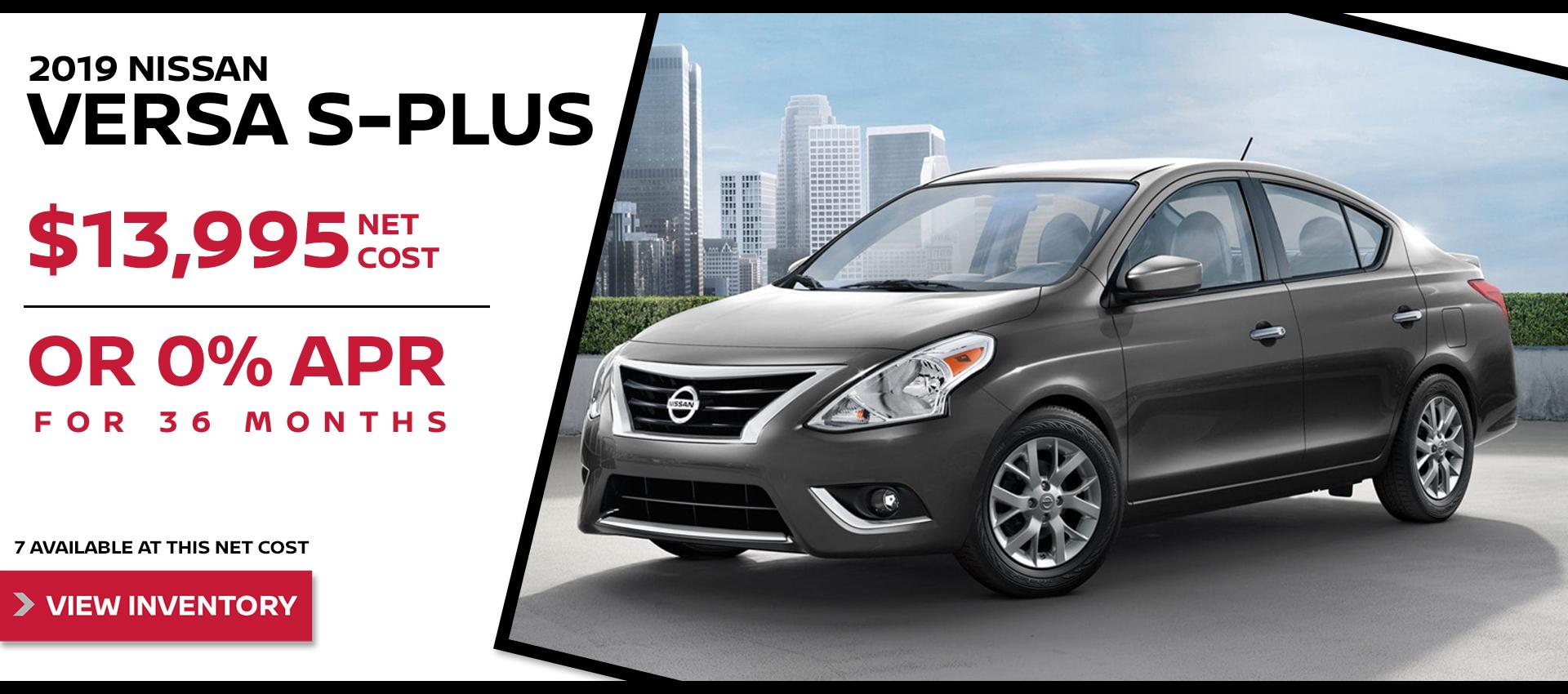 Mossy Nissan - Nissan Versa $13,995 Purchase HP