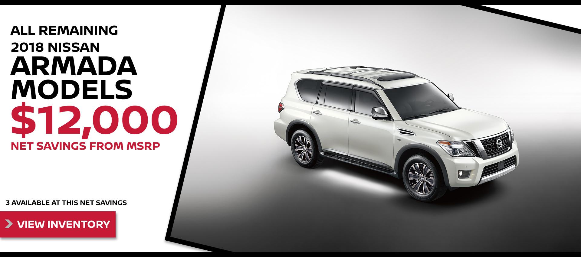 Mossy Nissan - Nissan Armada $12k OFF MSRP HP