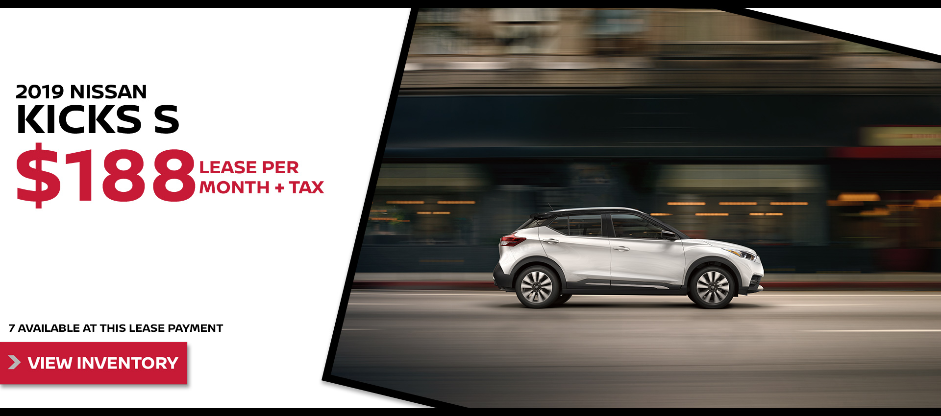 Mossy Nissan - Kicks $188 Lease HP