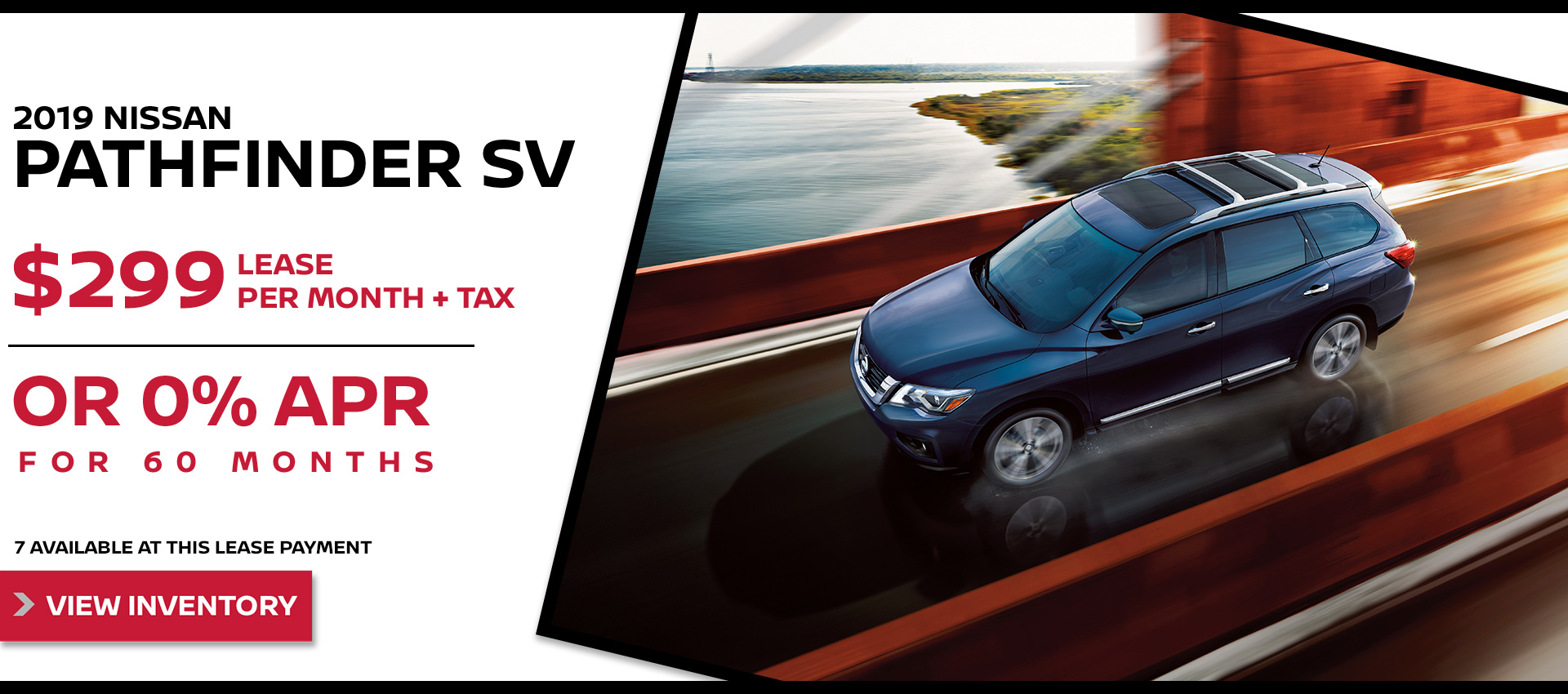 Mossy Nissan - Nissan Pathfinder $299 Lease HP