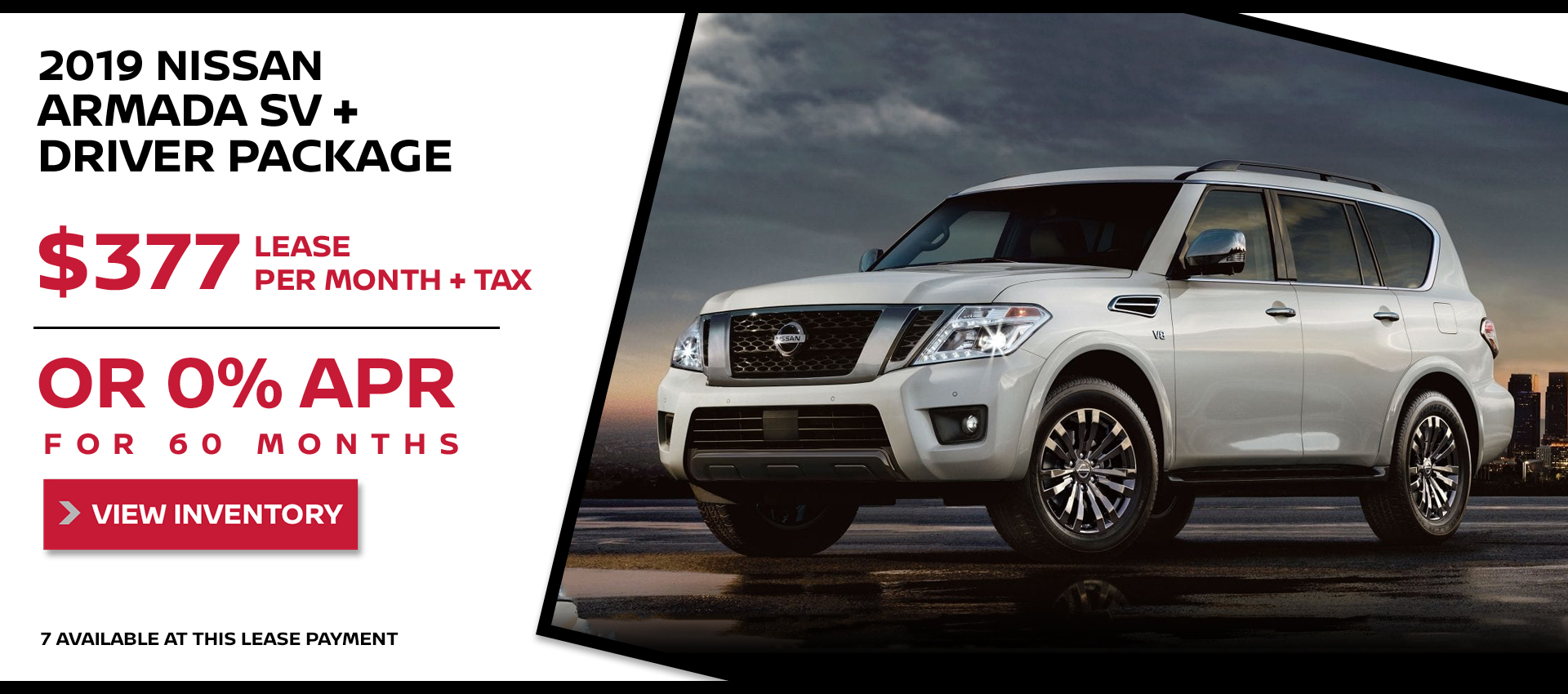Mossy Nissan - Nissan Armada $377 Lease HP