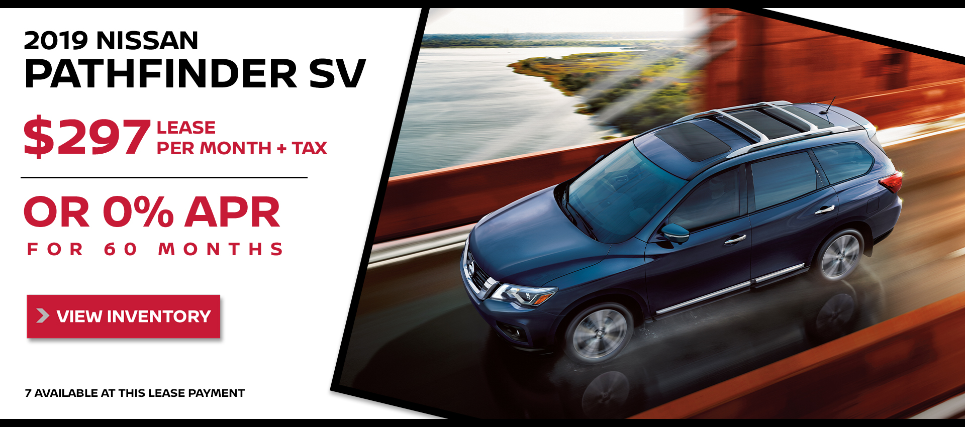 Mossy Nissan - Nissan Pathfinder $297 Lease HP