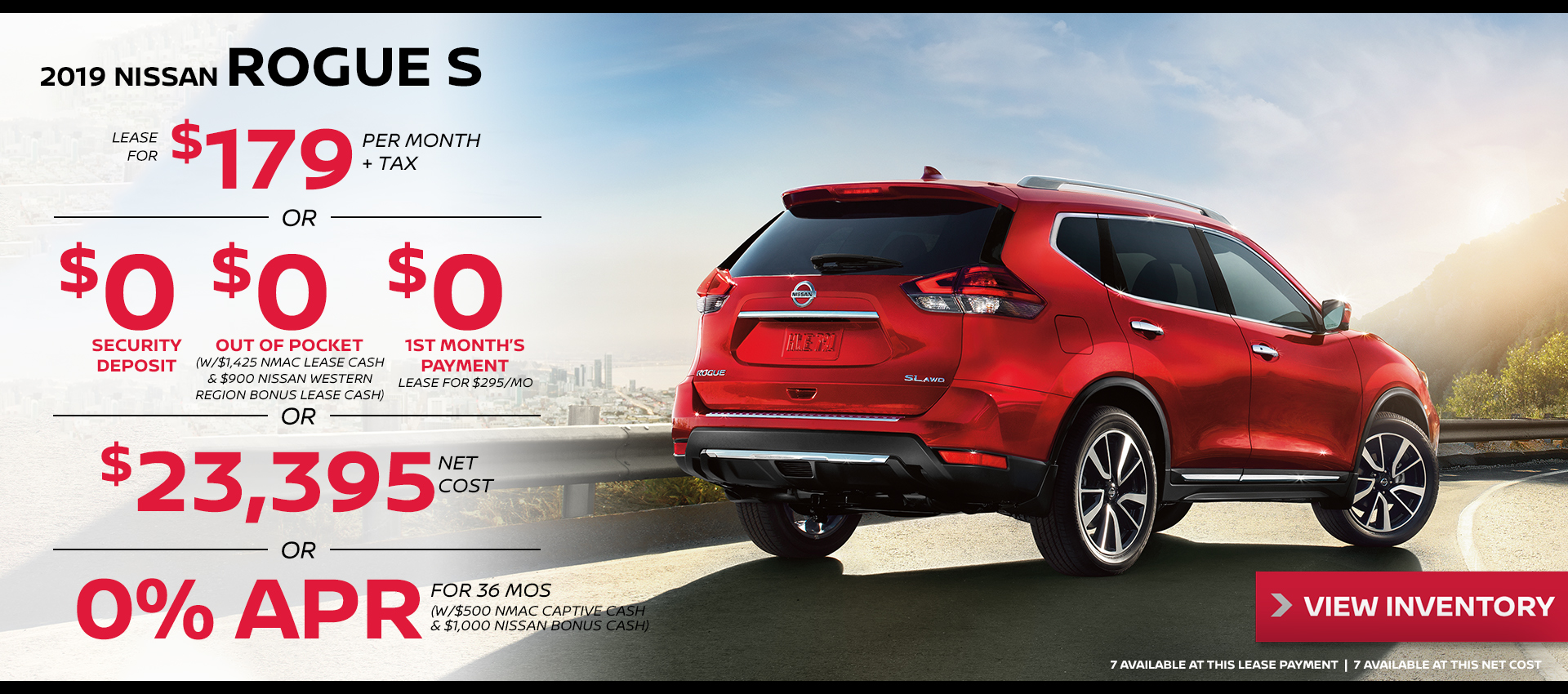 Mossy Nissan - Nissan Rogue $179 Lease HP