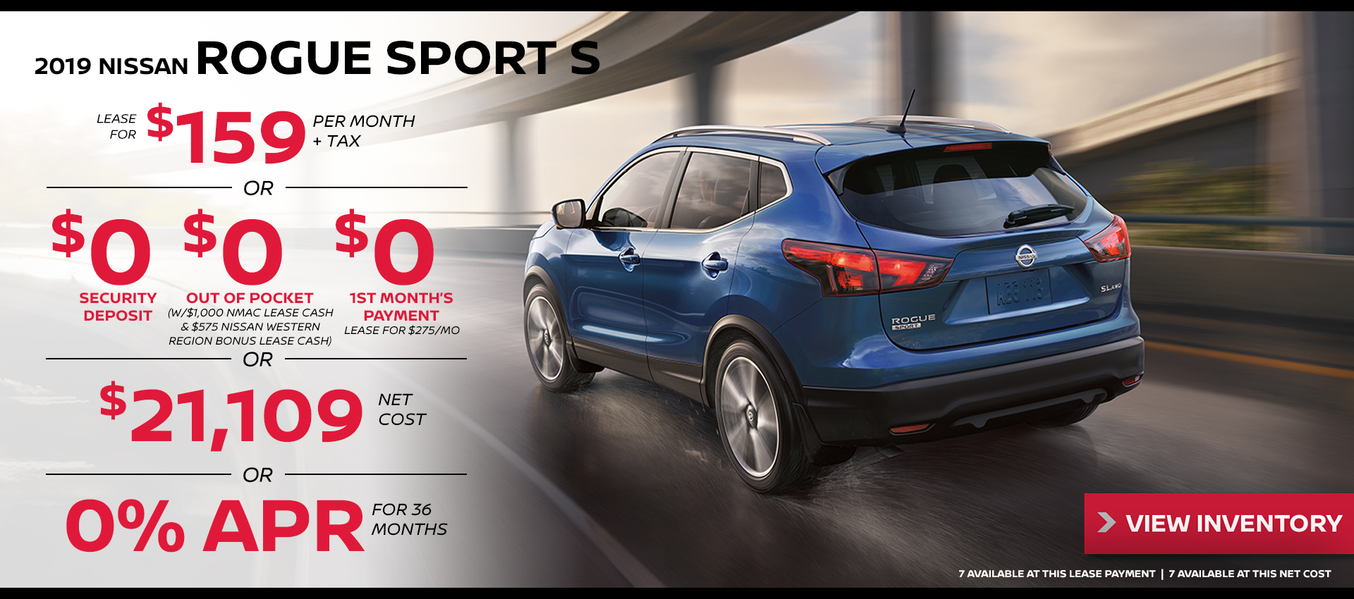 Mossy Nissan - Rogue Sport $159 Lease HP