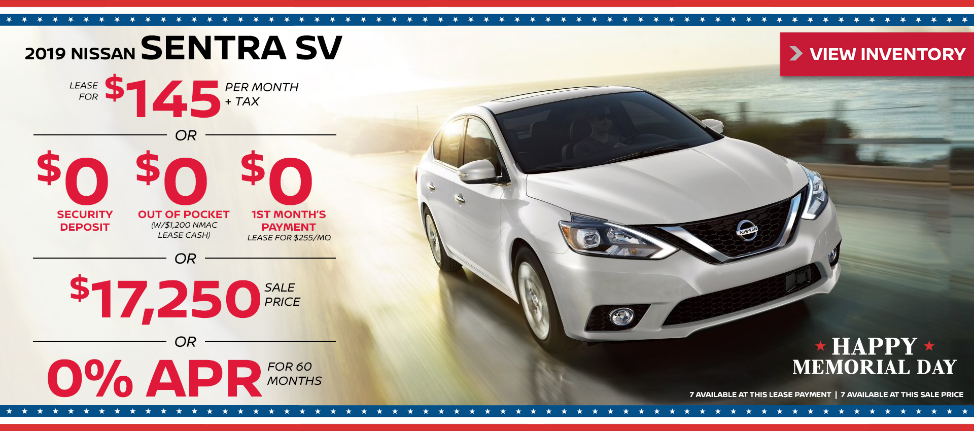 Mossy Nissan - Sentra $145 Lease HP