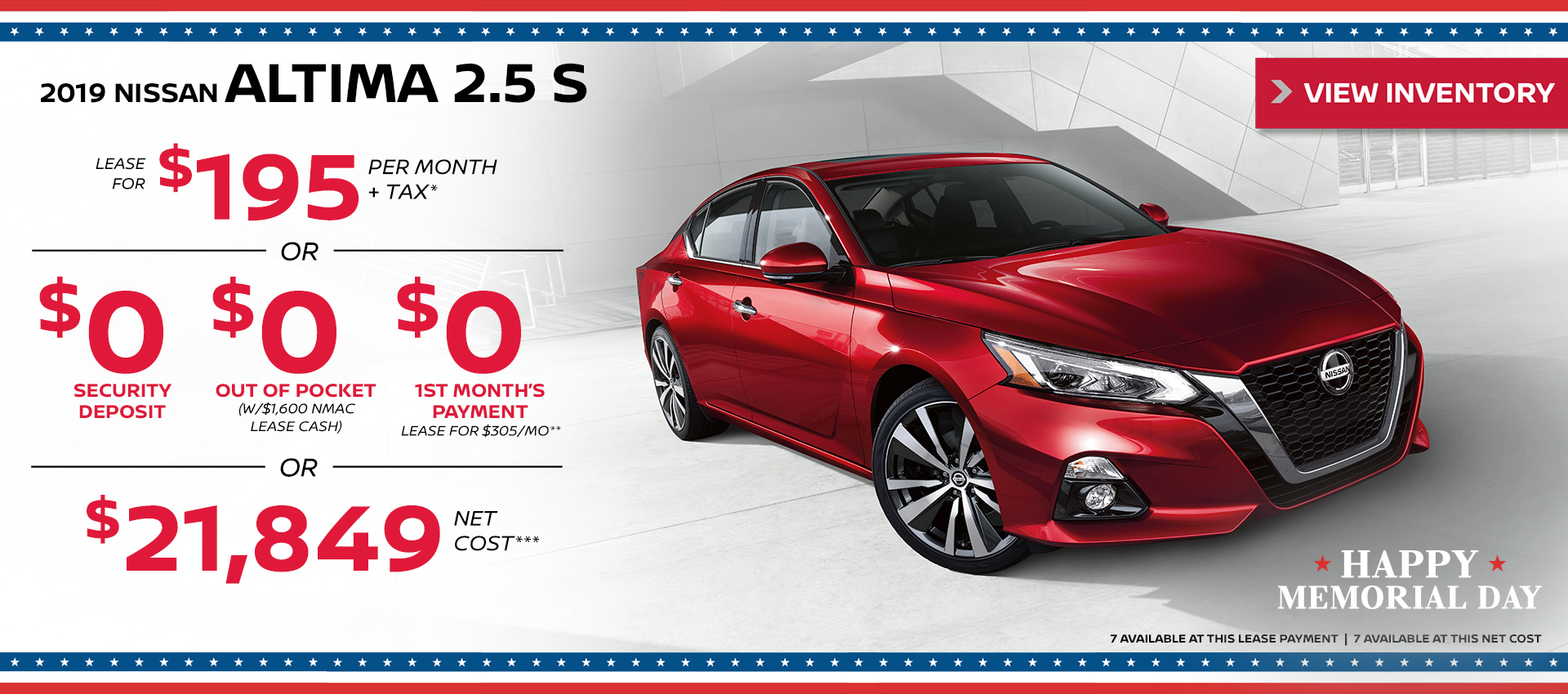 Mossy Nissan - Nissan Altima $195 Lease HP