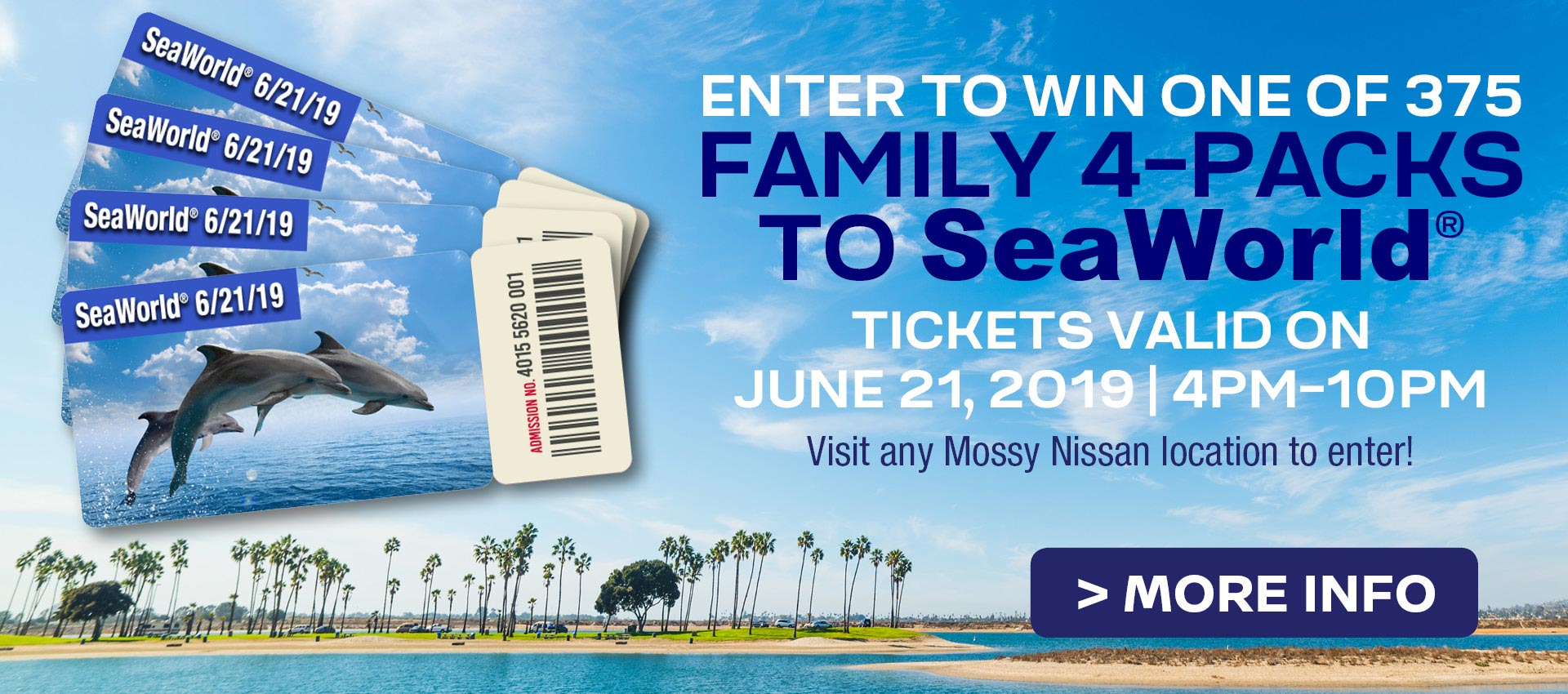 Mossy Nissan - SeaWorld Ticket Giveaway HP
