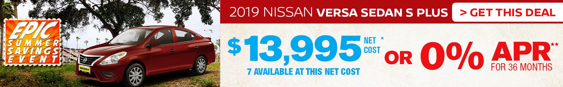 Mossy Nissan - Nissan Versa $13,995 Purchase