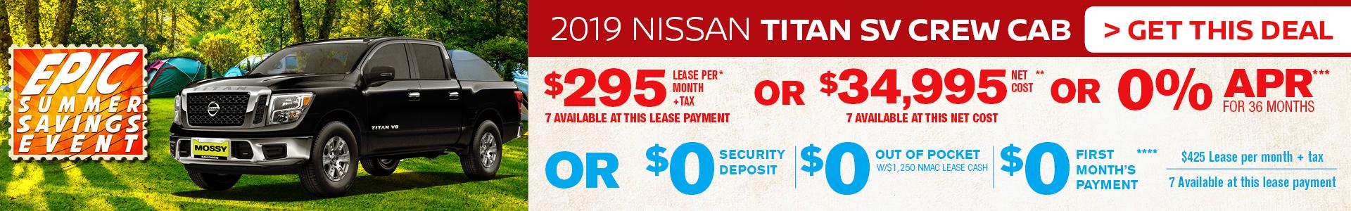 Mossy Nissan - Nissan Titan $295 Lease